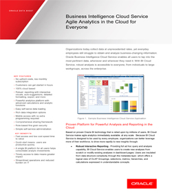 oracle business intelligence cloud service